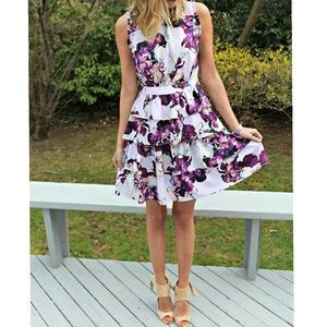 Banana Republic Lilac Andre Floral Print Dress